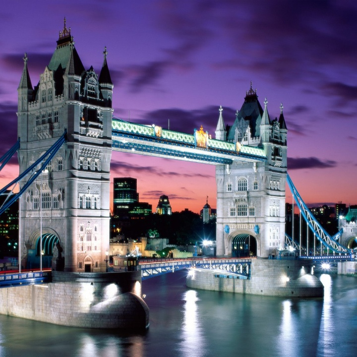 london evening tower bridge england